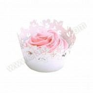 White Flowers Cupcake Wrappers - 12pk