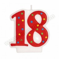 &#039;18&#039; Red Party Candle