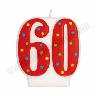 '60' Red Party Candle