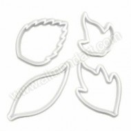 Creative Leaf Cutters - Set Of 4
