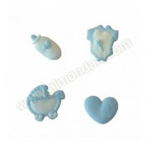 Blue Baby Pipings - 12 piece