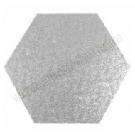 "13"" Hexagonal Cake Drum - (flat to flat)"
