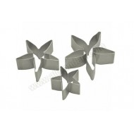 Rose Calyx / Poinsettia Cutters - Set Of 3