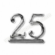 25 - Silver Numeral