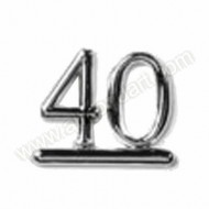 40 - Silver Numeral