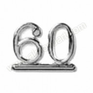 60 - Silver Numeral