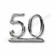 50 - Silver Numeral
