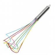 Multi Coloured Silicone Whisk - 30cm