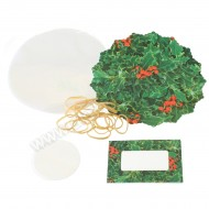 Christmas Holly Jam Pot Covers & Labels - 10pk