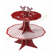 Knitted Noel 2 Tier Cupcake Stand
