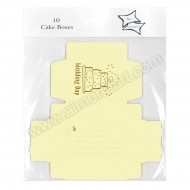 Wedding Cake Boxes - Ivory & Gold  - 10pk