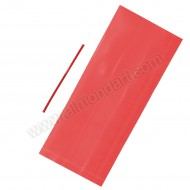 20 Red Cello Bags With Ties - 127mm x 292mm