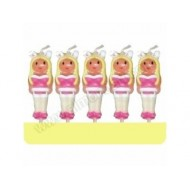 Adult Bunny Girl Candle Set Of 5