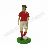Red Shirt Footballer