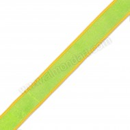 Lime Green & Yellow Wired Woven Edge 25mm x 1m
