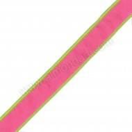 Fuchsia & Lime Green Wired Woven Edge 25mm x 1m
