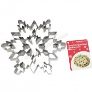 Giant Snowflake Cookie Cutter with Punchout