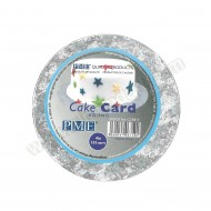 "4"" Round Silver Cake Card"