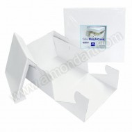 "6"" x 6"" x 6"" - Strong White Folding Box & Lid"