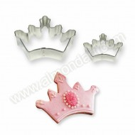 Crown Cookie & Cake Cutters - Set of 2