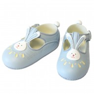 Resin Small Shoes Topper - Blue with Rabbit - A