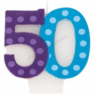 50 Bright & Bold Number Birthday Candle