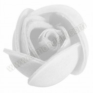 Small White Wafer Rose 24mm dia
