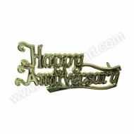&#039;Happy Anniversary&#039; Gold Effect Motto