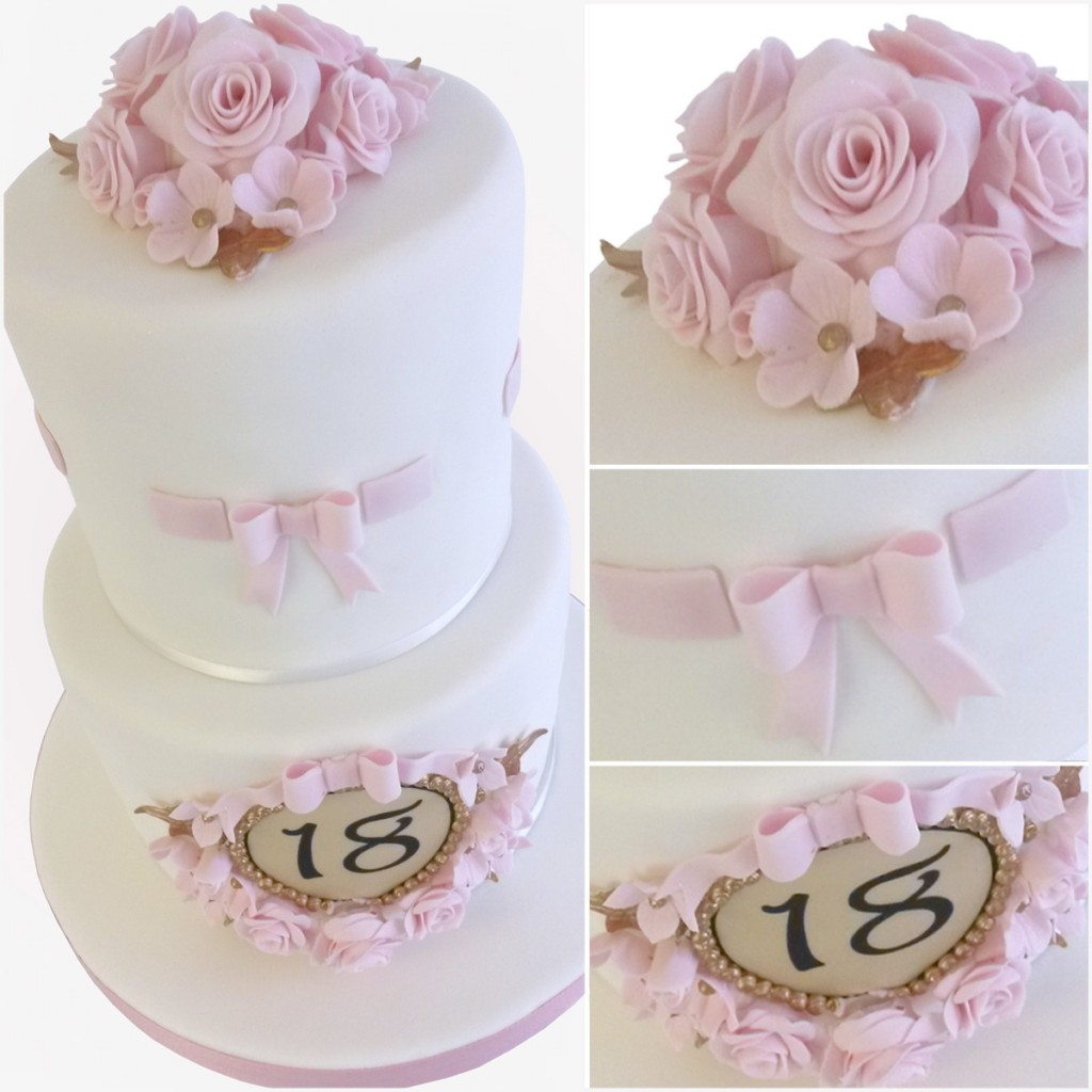 Elegant Eighteen - 2 Tier 18th Birthday Cake