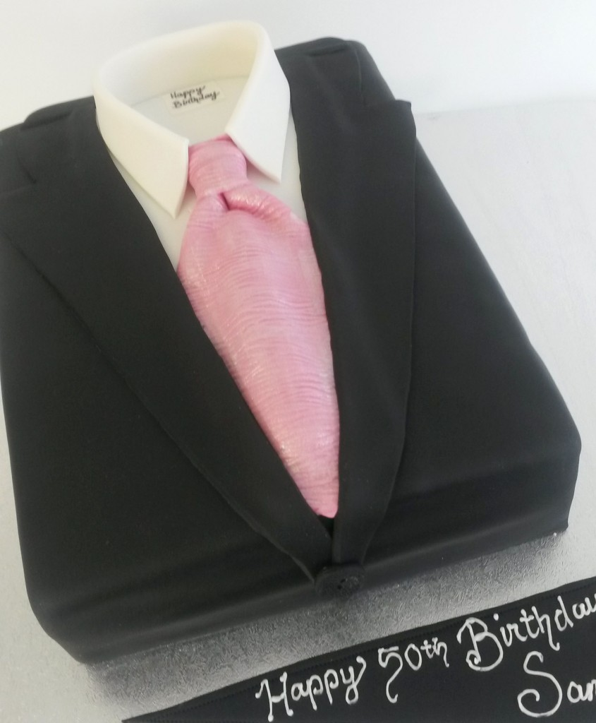 Suit Birthday Cake