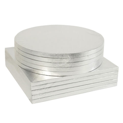 Bulk 5 Pack Round Amp Square Silver Cake Drum Boards