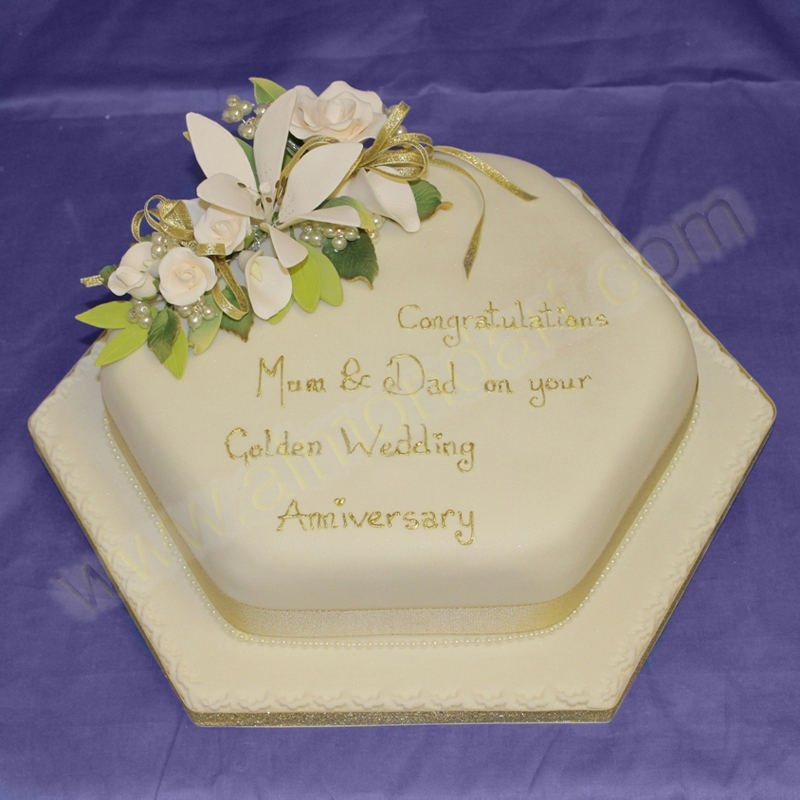 Design Of Cake For Anniversary : Anniversary Cake Ideas - Almond Art