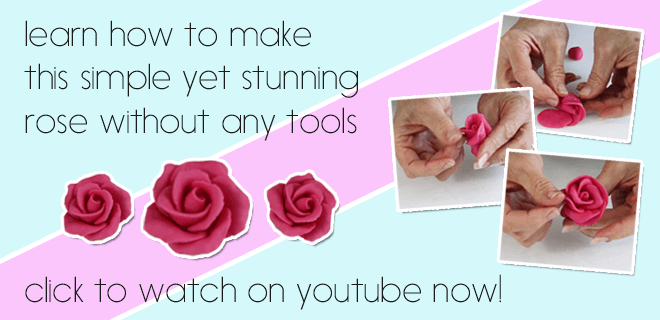 learn how to make an easy yet stunning rose with no tools, click to watch the video on youtube