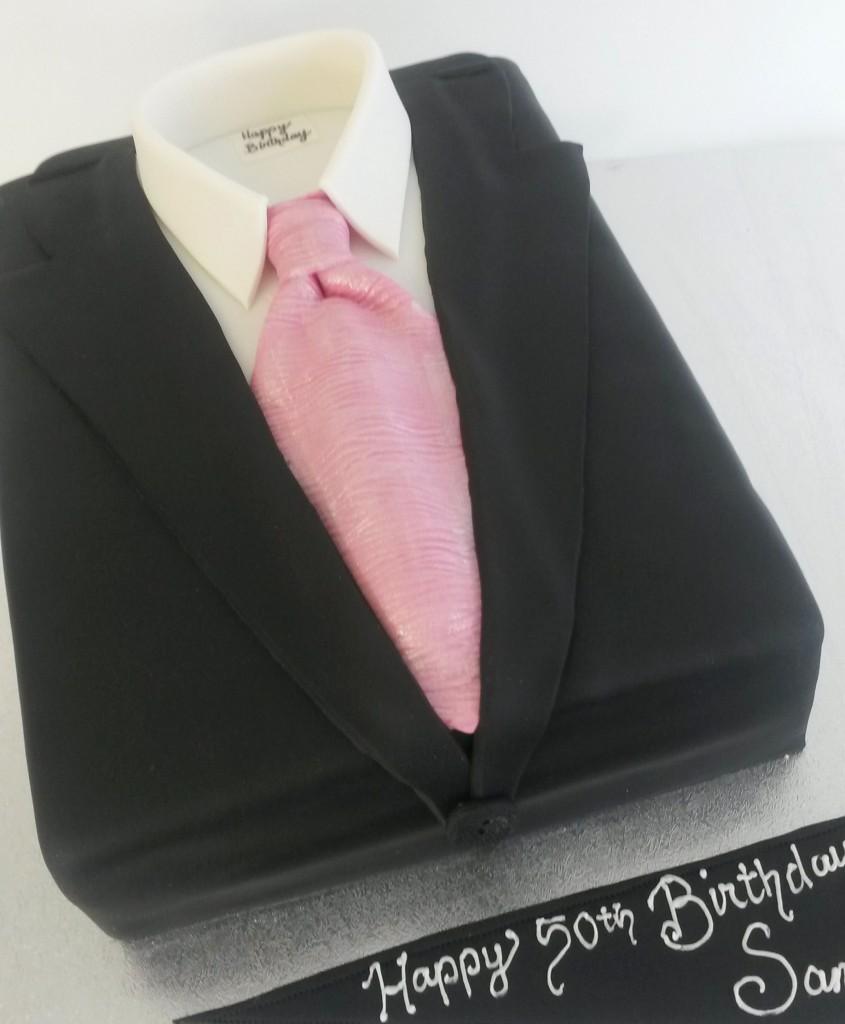 Suit Birthday Cake